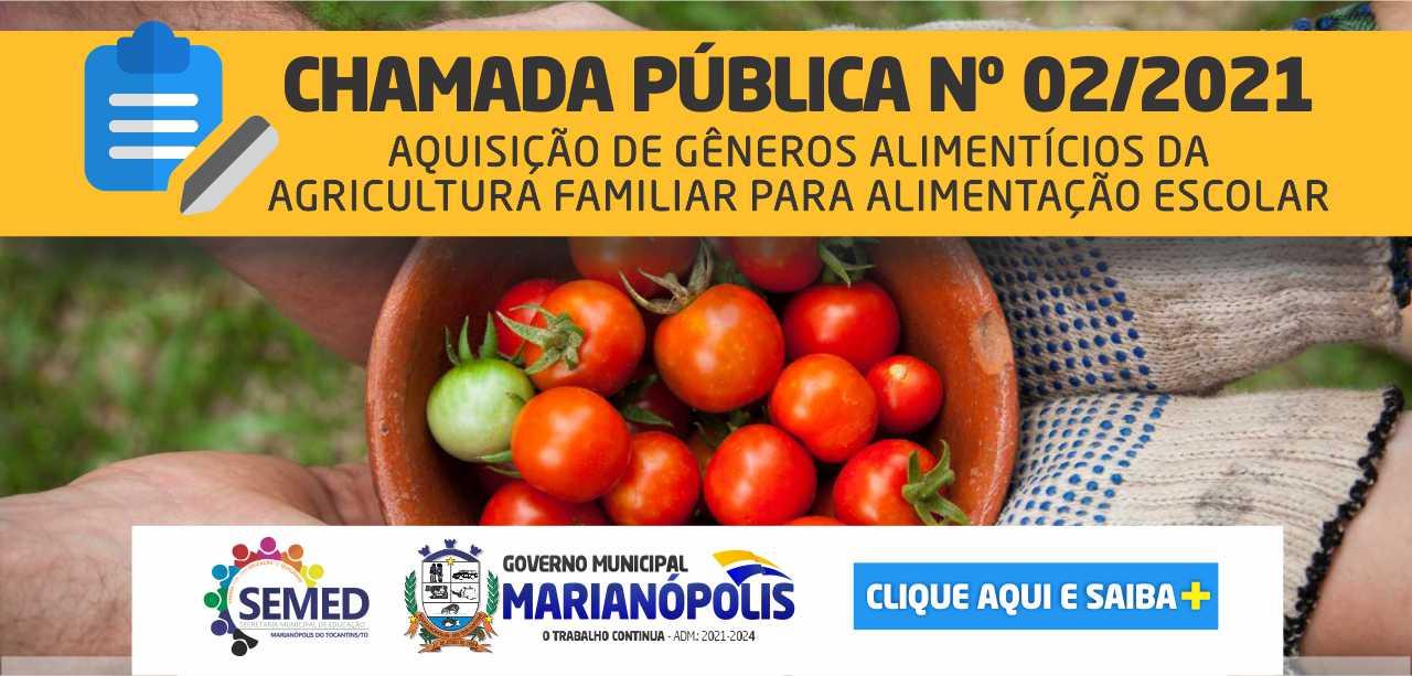 CHAMAMENTO PÚBLICO - AGRICULTURA FAMILIAR