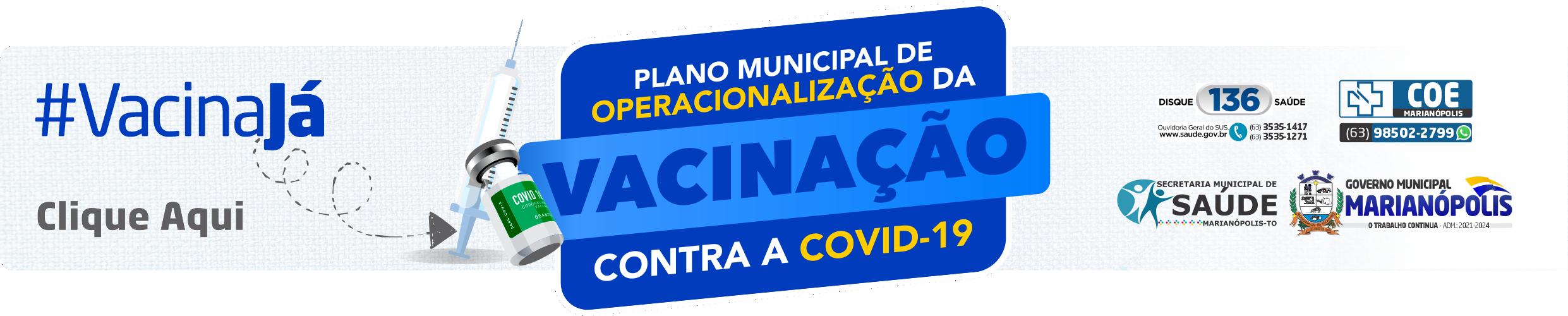 Plano Municipal de Operacionalização da Vacinação contra a Covid-19